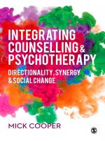 Cooper: Integrating Counselling & Psychotherapy