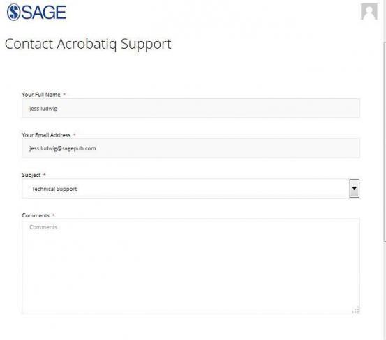 ERM Contact Acrobatiq Support form