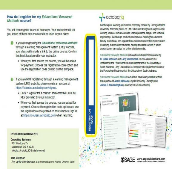 ERM Registration Code printed on slim pack