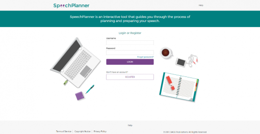 Screenshot of Register button on homepage
