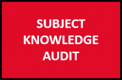 Subject knowledge audit
