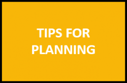 Tips for planning
