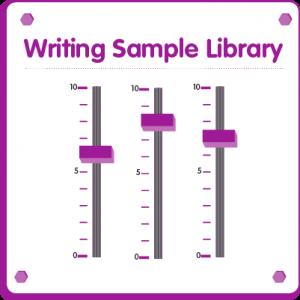 Writing samples library