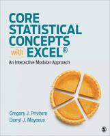Core Statistical Concepts With Excel®: An Interactive Modular Approach