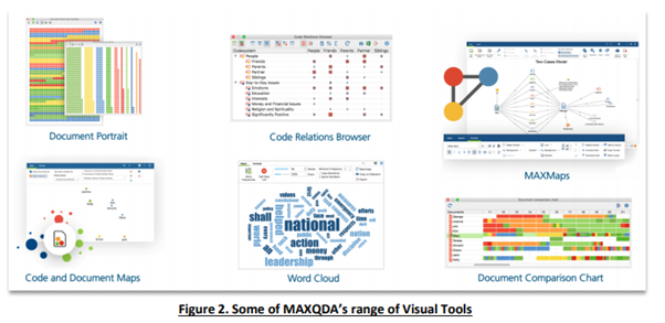 Screenshot: MAXQDA visual tools