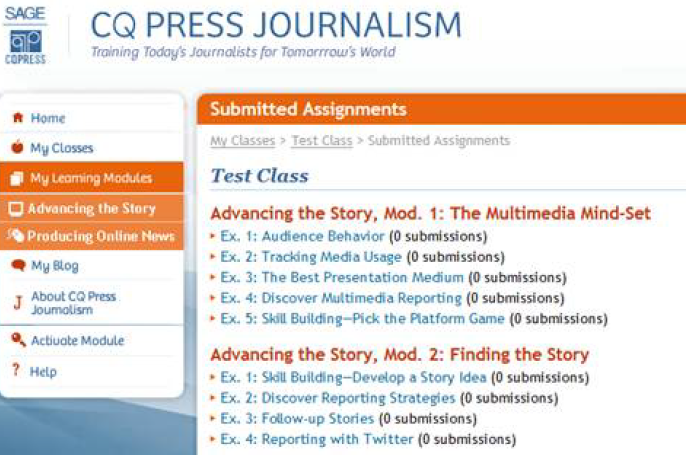 CQPress Journalism submitted assignments