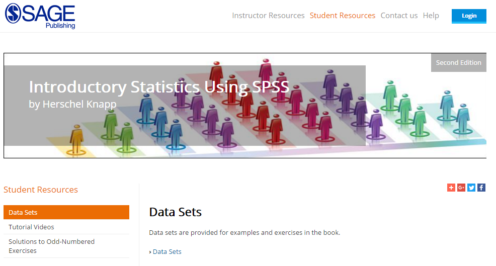 Data Sets student resources tab