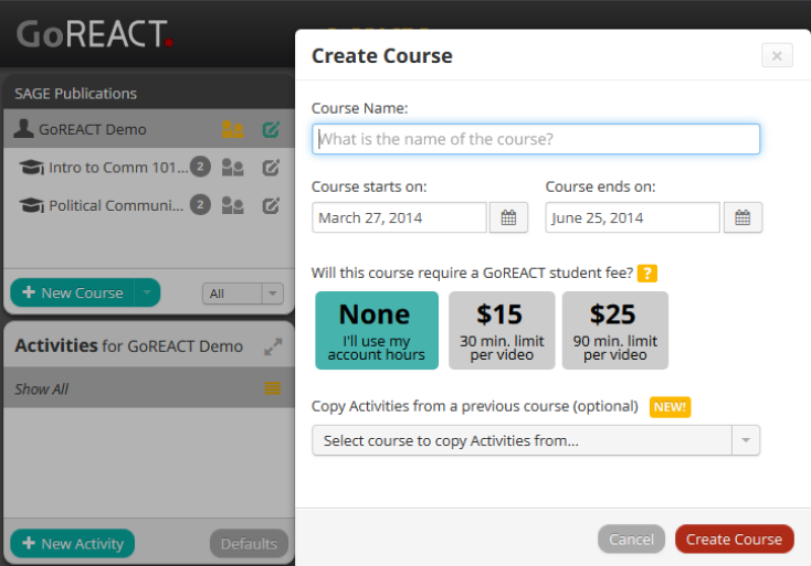 GoReact Create Course