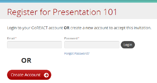 GoReact Register for course