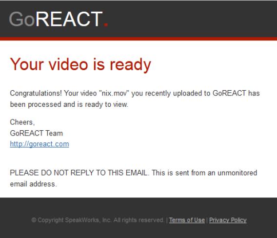 GoReact email