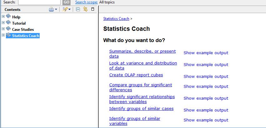 IBM Statistics Coach