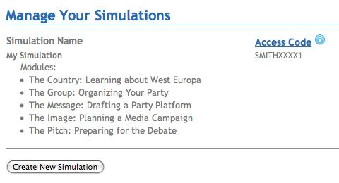 West Europa Manage Your Simulations Access Code