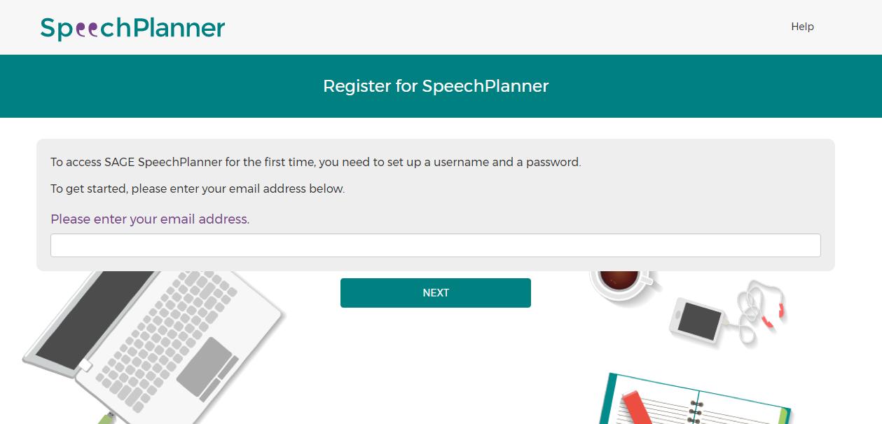 Screenshot of Register page step 2