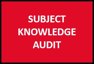 Subject knowledge audit