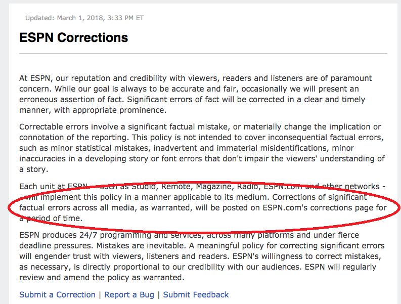 ATS4 ESPN corrections policy UPDATED
