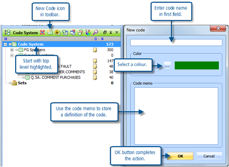 Figure 7.1.1 – Adding a new code to the Code System