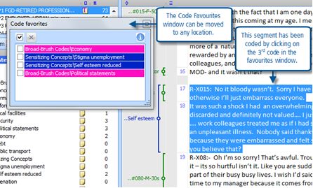 Figure 7.5.5 – Using the Code Favourites
