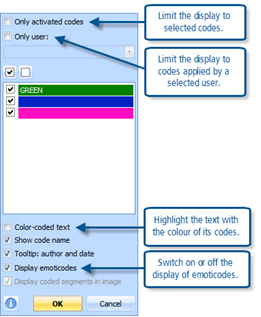 Figure 7.6.3 – Context menu in Coding stripe column (margin)