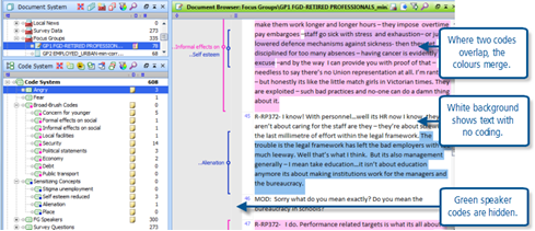 Figure 7.6.4 – Colour coded text option turned on
