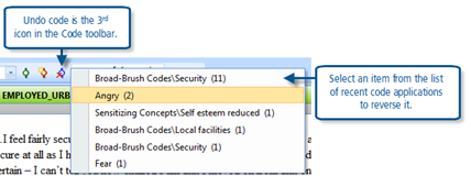 Figure 7.10.2 – Undo code icon in the Code toolbar