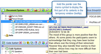 Figure 6.1.3 – Revealing the start of a memo