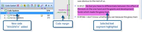 Figure 6.3.2 – Highlight coding