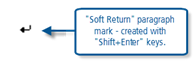 Figure 4.4.1 – Checking paragraph markers in MS Word