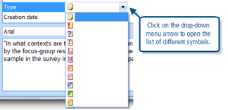 Figure 5.4.3 – Applying a memo type symbol