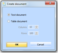 Figure 5.5.1 – Create a new document dialog