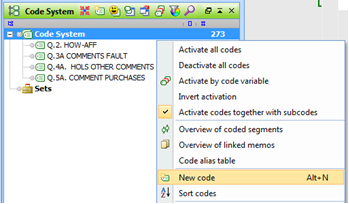 Figure 5.8.6 – Create a new code to use as a group header