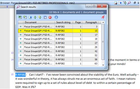 Figure 5.10.4 – Search Results window