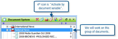 Figure 12.4.1 – Document System toolbar