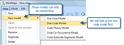 Figure 11.2.1 – MAXMaps, starting a new pre-programmed model
