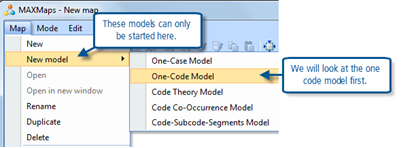 Figure 11.2.1 – MAXMaps, starting a new pre-programmed model