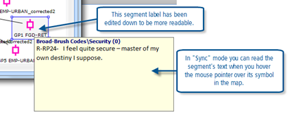 Figure 11.2.5 – Reading segments in a map