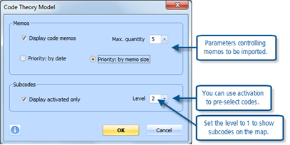 Figure 11.2.9 – Code Theory Model dialog