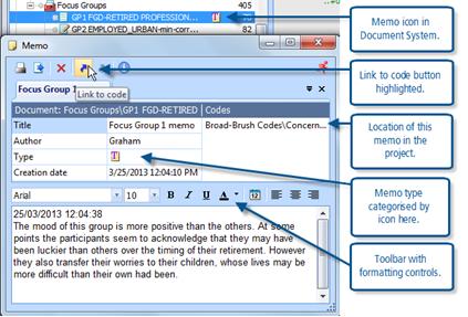Figure 10.1.1 – Editing a document memo