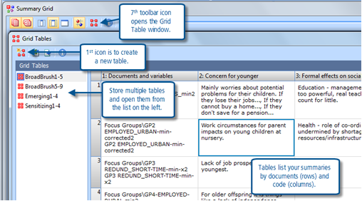 Figure 10.2.3 – A Summary Grid Table