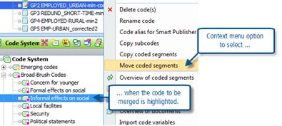 Figure 9.4.1 – Changing context menus during code merge