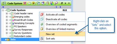 Figure 9.6.1 – Creating a new code set