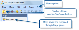 Figure 8.3.4 – MAXMaps intial options